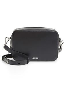 Ganni Leather Camera Crossbody Bag