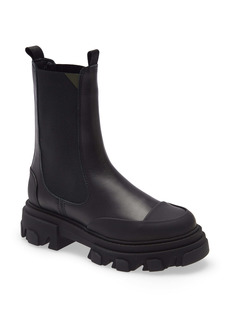 Ganni Leather Lug Sole Platform Boot (Women)