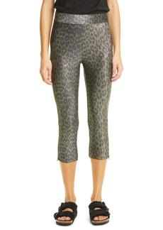 Ganni Leopard Metallic Jersey Leggings (Nordstrom Exclusive)