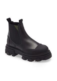 Ganni Calfskin Leather Low Chelsea Boot (Women)