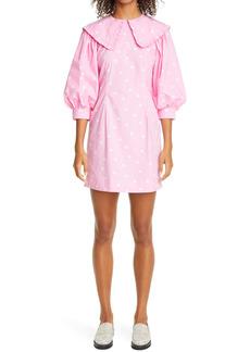 Ganni Polka Dot Print Organic Cotton Dress (Nordstrom Exclusive)