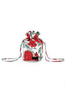 Ganni Recycled Polyester Drawstring Evening Bag