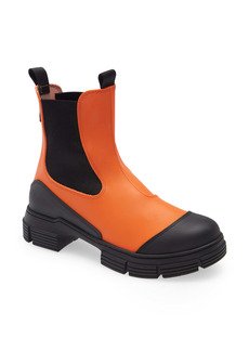 Ganni Recycled Rubber Chelsea Rain Boot (Women)