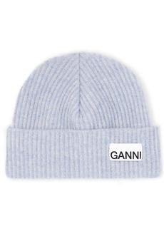 Ganni Recycled Wool Blend Beanie