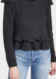 GANNI Rib Knit Pullover