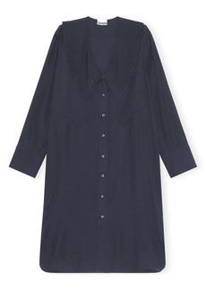 Ganni Ripstop Long Sleeve Shirtdress