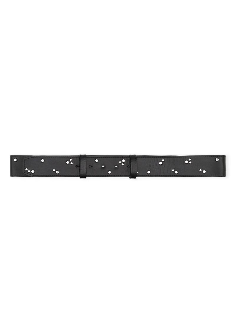 Ganni Studded Leather Belt