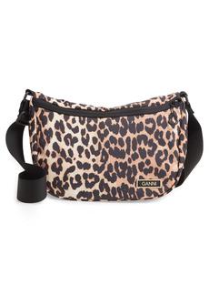 Ganni Tech Fabric Saddle Shoulder Bag