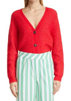 Ganni Wool Blend Boxy Cardigan