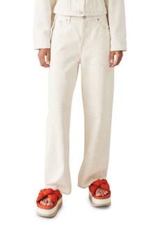 Ganni x Levi's® Floral Print Wide Leg Jeans