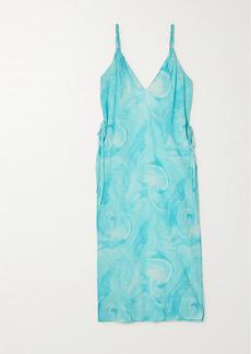 Ganni Printed Organic Cotton Midi Dress