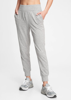 GapFit High Rise Brushed Tech Jersey Joggers