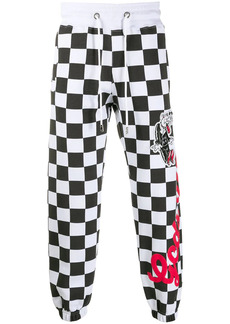 GCDS checkered track trousers
