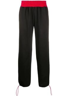 GCDS wide leg elasticated waist track pants