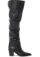 Gianvito Rossi 80 Leather Over-the-knee Boots