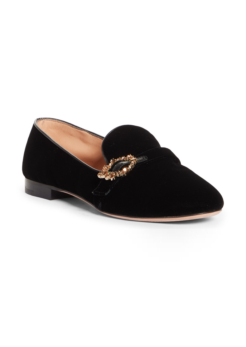 Gianvito Rossi Crystal Buckle Loafer (Women)