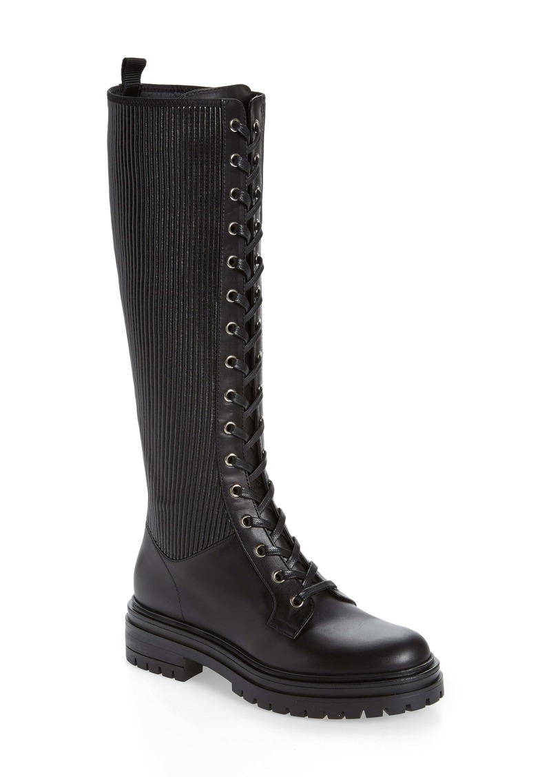 Gianvito Rossi Lace-Up Knee High Platform Boot (Women)