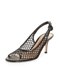 Gianvito Rossi Perforated Slingback Sandal (Women)