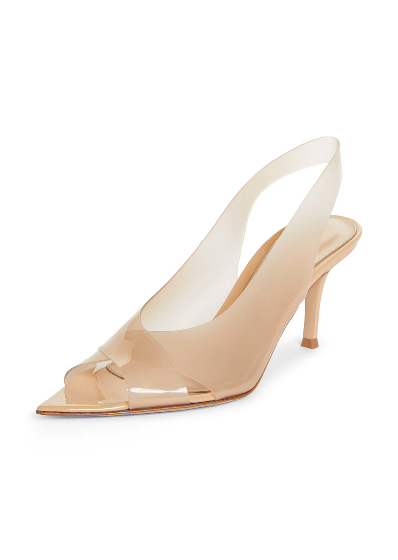 Gianvito Rossi Transparent Slingback Sandal (Women)