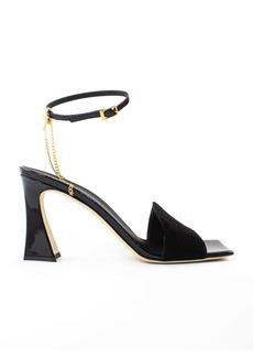 Giuseppe Zanotti Black Suede Sandals