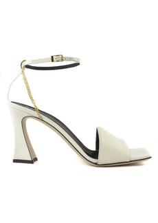 Giuseppe Zanotti White Suede Sandals