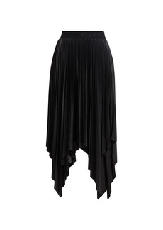 Givenchy Asymmetric Pleated Faux-Leather Skirt