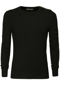 Givenchy Cashmere Knit Sweater W/ Logo Buttons