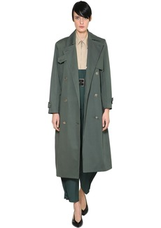 Givenchy Double Breasted Cotton Trench Coat