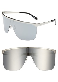 Givenchy 70mm Rimless Shield Sunglasses