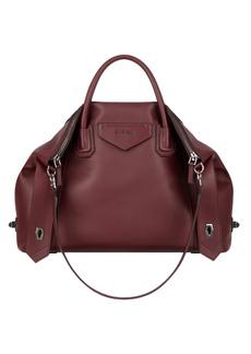 Givenchy Antigona Soft Medium Leather Satchel - Burgundy