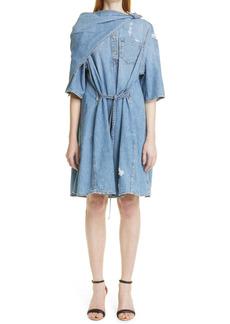 Givenchy Bandana A-Line Denim Dress