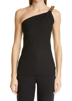 Givenchy Chain Detail Punto Milano One-Shoulder Top