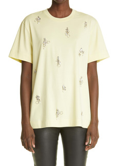 Givenchy Crystal & Piercing Embellished Cotton T-Shirt