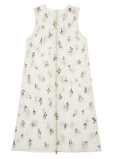 Givenchy Crystal Embellished Organza Shift Dress