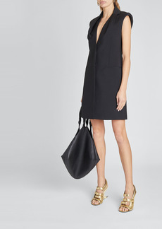 Givenchy Drape-Collar Vest Dress