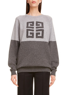 Givenchy Embossed Logo Bicolor Cashmere Sweater