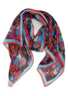 Givenchy Fire Flower Silk Scarf