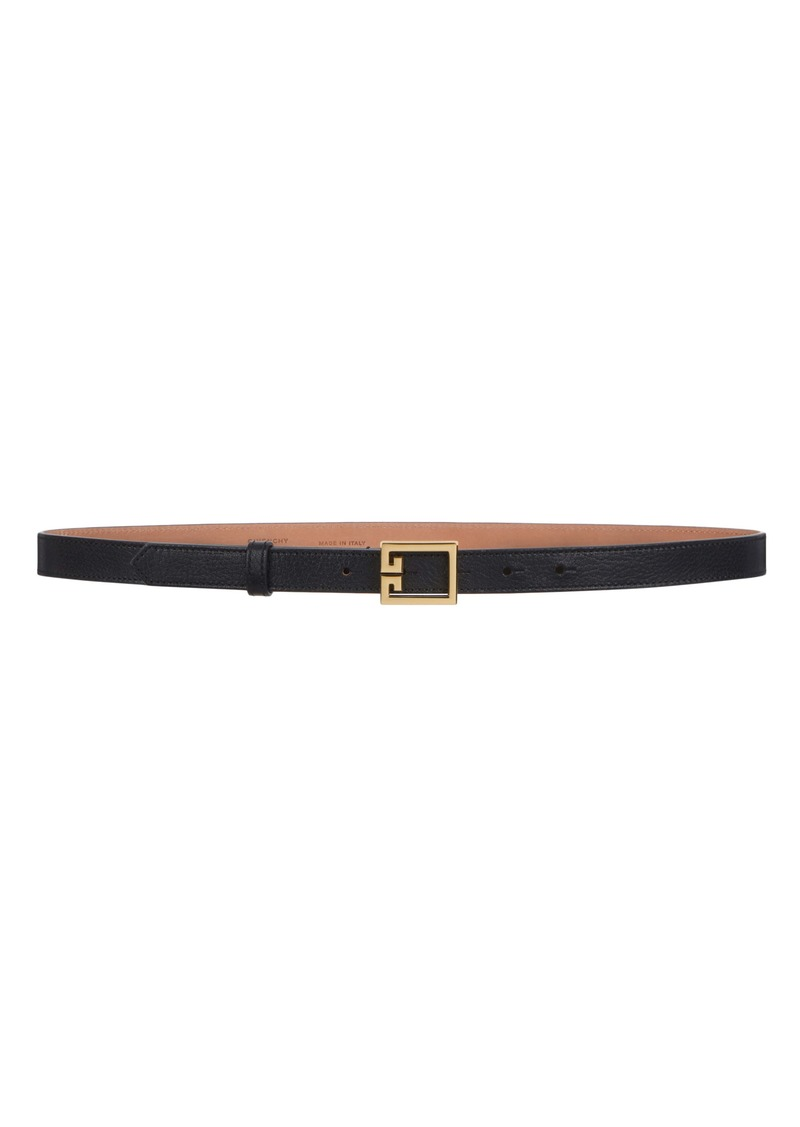 Givenchy GV3 Leather Skinny Belt