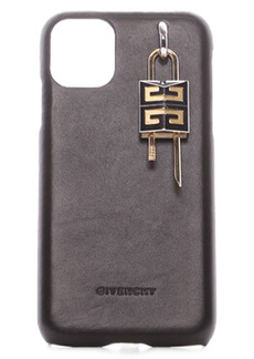 Givenchy Lock iPhone 11 Leather Case