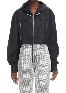 Givenchy Logo Crop Windbreaker