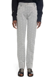 Givenchy Logo Jacquard Straight Cut Pants