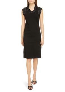 Givenchy Logo Jacquard Trim Sheath Dress