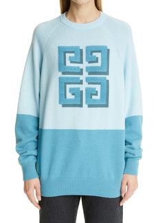 Givenchy Logo Two-Tone Cashmere Sweater