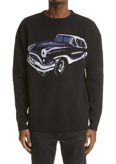 Givenchy Men's Car Jacquard Sweater