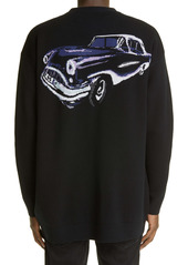 Givenchy Oversize Car Jacquard Cardigan