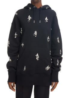 Givenchy Oversize Crystal Embellished Cotton Hoodie