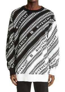 Givenchy Oversized Chaîne Jacquard Sweater