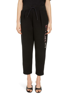 Givenchy Pleated Dégradé Logo Crop Joggers