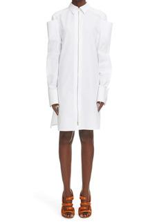 Givenchy Pocket Long Sleeve Cotton Shirtdress