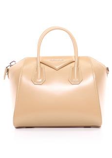 Givenchy Small Antigona Leather Satchel - Beige